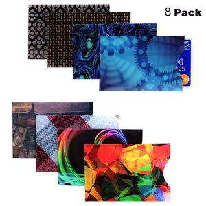 RFID Blocking Hüllen - Packung mit 8 Kreditkarte & ID Schützhüllen, Kontaktlose Kartenhülle Slim Fit wasserdichtem und reißfestem - perfekt für Portemonnaie, Brieftasche und Handytasche