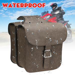 Paar Universal Motorrad Satteltasche Werkzeugtasche Gepäcktaschen Kunstleder