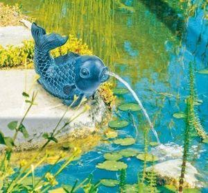 Wasserspeier bronze / Heissner Teichfigur Fisch