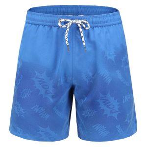Herren Aquarellwechsel Badehose Strandhose Warme Farbwechsel Shorts Größe:L,Farbe:Hellblau