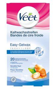 Veet Kaltwachsstreifen Beine sensible Haut 20 Stück