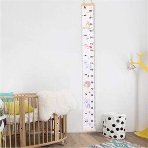 Messlatte für Babys, 200 cm x 20 cm, Messlatte für Kinder, Cartoon-Motiv, wasserdicht, Leinwand, Wandlineal, Höhenmesslineal für Jungen und Mädchen