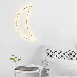Smartwares LED Wandleuchte Glühwürmchen Mond Lampe Deko warmweiß 3000K für 3 x AA Batterie