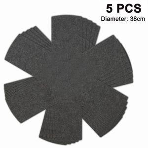 Premium Pfannenschoner Filz (5er Set) für Pfanne und Topf - Stapelschutz auch als Topfschoner - 38cm Isolierung Pfannenschutz Grau