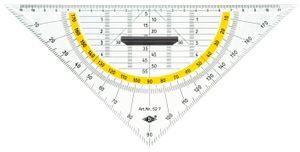 WEDO Geodreieck Hypotenuse 250 mm mit abnehmbarem Griff