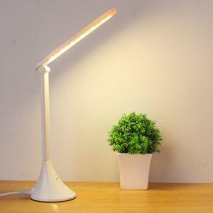 Schreibtischlampe LED Schreibtischlampe,  Charging Schreibtischlampe Eye-Caring Tischlampen für Studien, Lesen und Schlafzimmer, Dimmbare Büro-Lampe mit USB-Ladeanschluss.