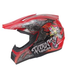 Mejia Crosshelm für Kinder rot Motocrosshelm Helm Kinderhelm Endurohelm  XS