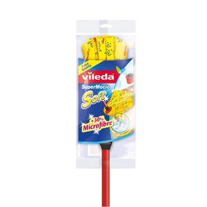 Vileda Mop SuperMocio Soft Set mit Stockstange mit Stabstab Qualität Wohnen