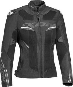 Ixon Draco Damen Motorrad Textiljacke Farbe: Schwarz/Weiß, Grösse: M