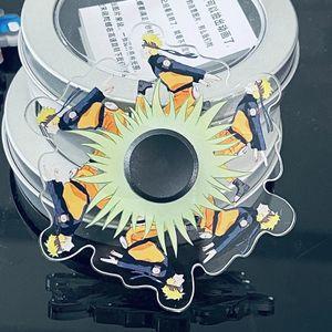 2021 Naruto animierter Kreisel,Rotation ist animiert,naruto  laufende Fingertip Gyro Relief Stress Zappeln Hand Spinner Spielzeug für Kinder