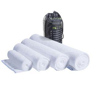 LightDRY Mikrofaser Handtuch Reisehandtuch für Sport und Trekking, Extra saugfähig & antibakteriell - Weiß - 80x160cm