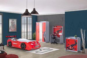 Autobett Kinderzimmer Forza 2 Turbo 4-teilig in Rot