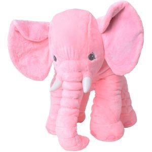 teprovo XXL Elefant Kuscheltier Einschlafen Deko Kissen Kleinkind Plüschelefant Plüsch Stoff 68 cm groß Rosa Pink S