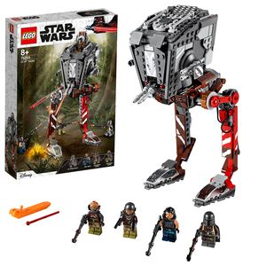 LEGO 75254 Star Wars AT-ST-Räuber, Set mit abfeuerbaren Shootern und 4 Minifiguren, TV-Serie The Mandalorian Kollektion