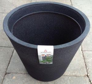 Scheurich Coneo Pflanztopf schwarz/granit 242/40