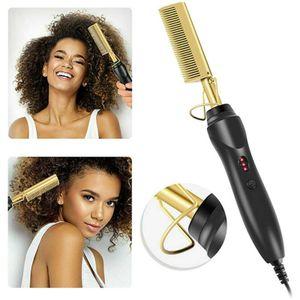 Haarglätter Bürste Pinsel Elektrischer Beheizter Haarkamm Haar Styling für Männer und Frauen  Elektrisch Haarbürsten Schnelle Bartglätter