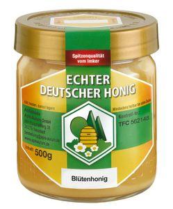 Echter Deutscher Honig aus Hessen. Naturbelassen, fein gesiebt und ungefiltert 1x500g Blütenhonig