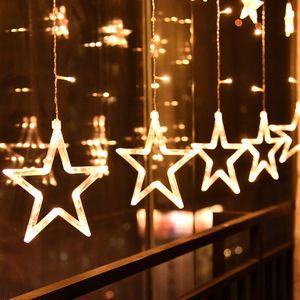 LED Lichterkette Sterne Weihnachten Sternenvorhang Lichterschlauch Lichtschlauch Warmweiß