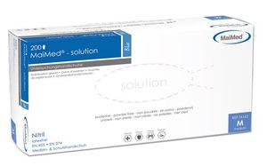 MAIMED solution PF Nitril mikrogeraute Fingerspitzen blau, Gr. XL 10x 200 stk.
