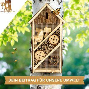 deintierhaus.de©   Insektenhotel aus Naturmaterialien - Nistkasten & Unterschlupf für Insekten - Natur- & Artenschutz für Zuhause - Bienenhotel, Insektenhaus, Nützlingshotel   19,5 x 10 x 37 cm