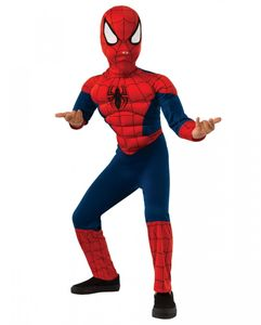 Spider Man Muskel Kinderkostüm für Fasching Größe: L