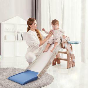 Kinderrutsche mini Rutsche für Kleinkinder Rutsche indoor klappbar Dinosaurier Rutsche für Babys ab 10 Monate 115cm Rutschbahn