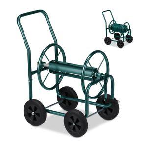 relaxdays Schlauchwagen Metall grün
