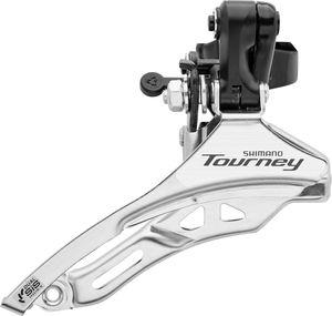 Shimano Tourney FD-TY300 Umwerfer Schelle hoch 3x6-/7-fach Top Pull Schwarz/Silber Ausführung 34,9mm