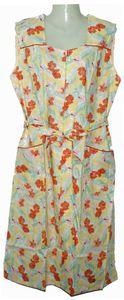 RV- Kittel Schürze Hauskleid Kittelschürze bunt, Farbe:Dessin 2, Größe:42