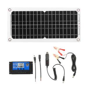 Solarpanel-Ladung12W SolarladungDC 5V / 12V Dual-Ausgang