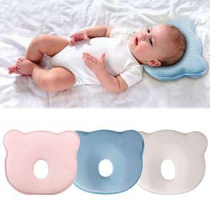Orthopädisches Babykissen gegen Verformung Plattkopf Baby Soft Pillow, Blau