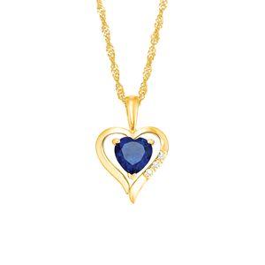 Amor Schmuck Kette mit Anhänger für Damen, Gold 375, Zirkonia Herz