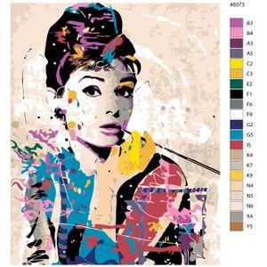 """Malen nach Zahlen """"Audrey bunt"""", 40x50cm, KTMK-48373"""