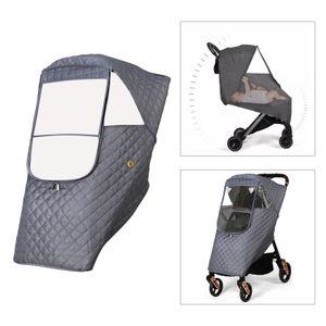 1pc Universal Warme Kinderwagen Regen Abdeckung für Kinderwagen Buggy grau Regenschutz Frontlänge 82cm
