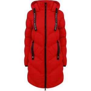 SAINT & SINNER Daunenjacke Long Sleeve Hooded Hip Level Red Damen