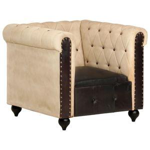 Chesterfield-Sessel Relaxsessel Modernem Design Braun Echtleder