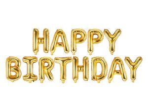 Folienschriftzug Happy Birthday gold