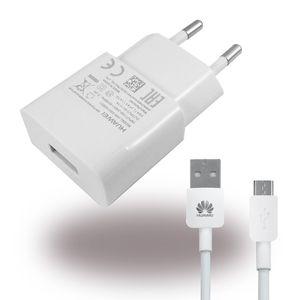 Huawei - HW-050100E01 - Netzteil / Ladegerät + Micro USB Ladekabel - 1000mA - Weiss