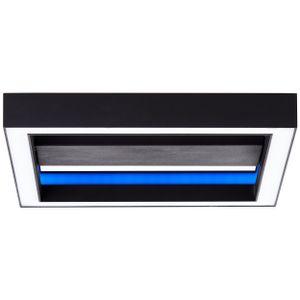 BRILLIANT Icarus LED Wand- und Deckenleuchte 30x30cm schwarz G99312/76 RGB Fernbedienung