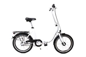 20 Zoll Alu Klapp Fahrrad Faltrad Folding Bike Shimano 3 Gang Nabendynamo weiss RH 41cm
