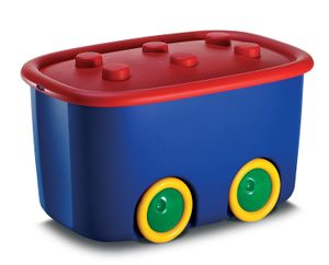 KIS Kunststoffbox Funny Box L Blau / Rot