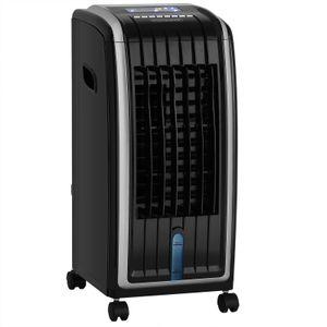 Luftbefeuchter 4in1 5L Tank Timer 3 Stufen LED Display Mobiles Klimagerät Ventilator Klimaanlage Ionisator Luftkühler