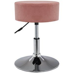 Duhome Drehhocker aus Stoff Samt in rosa pink Sitzhocker Hocker
