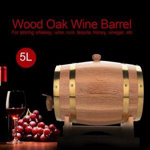 Weinfass Eichenfass Holzfass Fässchen für Wein Whisky 5 Liter Holz Fass