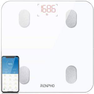RENPHO Digitale Intelligente Körperfettwaage Bluetooth mit App für BMI, Gewicht, Muskelmasse, Wasser, Protein, BMR