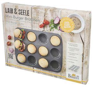 Birkmann Mini Burger Brötchen Buns, Laib und Seele Backform Blech 210417