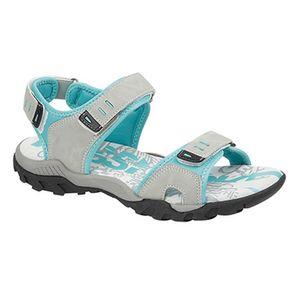 PDQ Damen Sport Sandale / Trekkingsandale mit Klettverschluss DF437 (8 UK/41 EU) (Hellgrau/Mint)