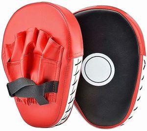 PU Handpratzen Teller-Pratzen vorgekrümmt Trainerpratzen Schlagpratzen Coaching Pratzen 1 Paar Kickboxen Boxen Pratzen