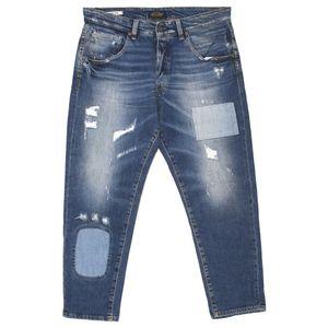 20118 Jack & Jones, Frank Leen Cropped,  Herren Jeans Hose, Stretchdenim, blue vintage, W 33 L 32
