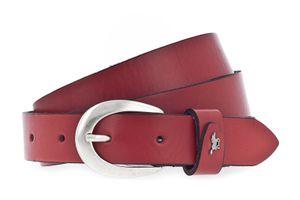 Mustang Damengürtel Ledergürtel genarbt 25mm rot 85